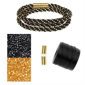 Refill - Beaded Kumihimo Wrap Armbånd - Nytårsaften - Eksklusiv Beadaholique smykker Kit