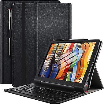 FengChun Tastatur Hülle für Lenovo Yoga Smart Tab (Deutsches QWERTZ), Ständer PU Schutzhülle Hülle