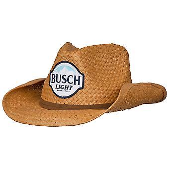 Busch Light Straw Cowboy -hattu ruskealla nauhalla