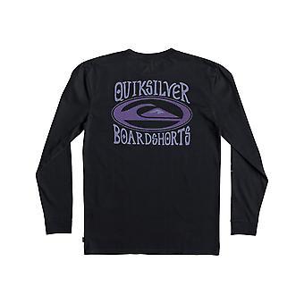 Quiksilver Cosmic kärsivällinen pitkähihainen T-paita musta