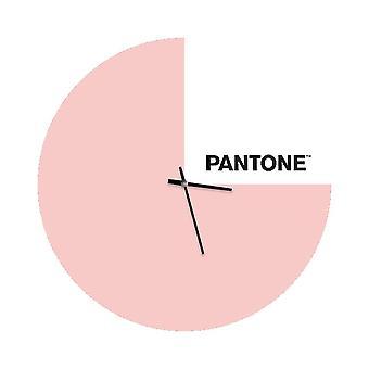 PANTONE Montre Slice Couleur Rose, Blanc, Noir, en Métal L40xP0,15xA40 cm