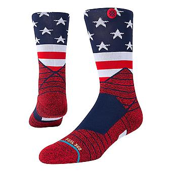 Stance American Crew Socks - Red