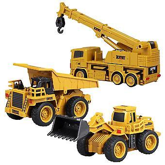 1:64 4ch Rc Dump Truck Rc Grävmaskin Rc Kran Lastbil Mini Rc Truck Leksak