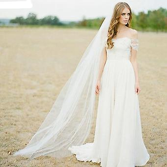 Wedding Veil, One Layer Long Bridal Veils