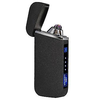 חדש 319-מט שחור אופנה כפולה קשת אלקטרונית מגע חכם קל USB אינדוקציה נטענת sm41890