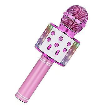 צעצועים מהנים לנערות בנות 3-12, מיקרופון לילדים מיקרופון קריוקי (ורוד)