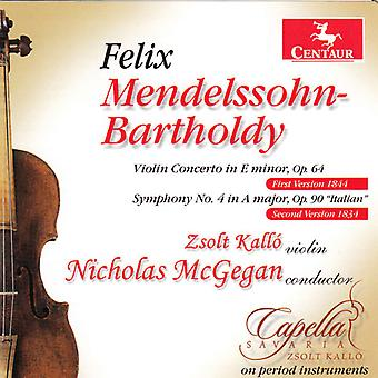 F. Mendelssohn - Mendelssohn: Violin Concerto in E Minor, Op. 64; Symphony No. 4 in a Major, Op. 90 'Italian' [CD] USA import