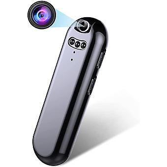 Full HD 1080P Mini Portable Camera Surveillance Camera, with Night Vision Loop Recording Hidden Home Spy Camera, 150 ° Wide Angle Smart Compact Camera-256gb(Black)