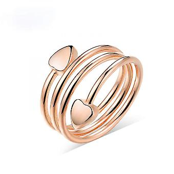 Rings For Women Red Copper Heart Ring Magnetic Therapy