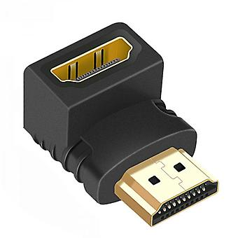 90/270 Degree Right Angle Hdmi Male To Female Adapter Connector Cable