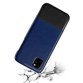 Funda de shell de cuero bicolor para Apple iPhone 6 / 6S - azul / negro