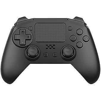 בקר משחק אלחוטי Bluetooth עבור קונסולת PS4 6 ציר כפול רטט Gamepad (שחור)