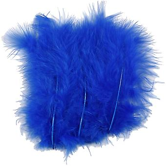 15 Royal Blue 12cm Fluffy Feathers for Crafts