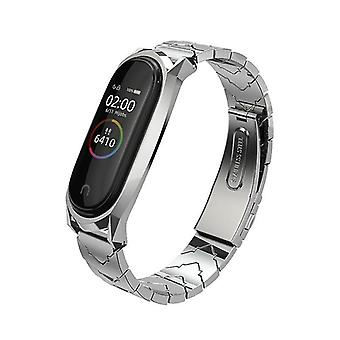 Remote controls metal stainless steel strap compatible bracelet mi band 3 / wristband