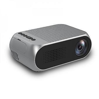 מיני מקרן בית HD 1080p נייד הביתה LED מקרן, שחור