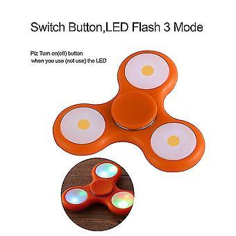Led Light Flash Hand Spinner Toys Finger Tri-spinner Toys Gift For Kids/adult