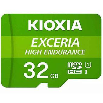 Micro SD Memory Card with Adaptor Kioxia Exceria High Endurance Class 10 UHS-I U3 Green