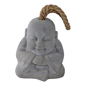 Buddha sorridente Grigio Cemento Fermaporta