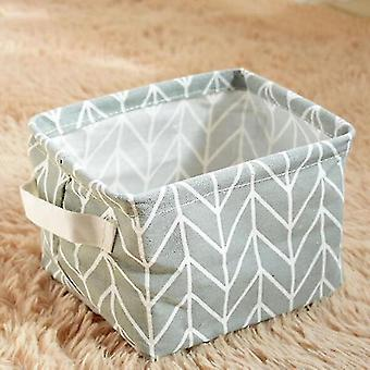 Baskets multi functional cotton linen storage basket for home decor light gray