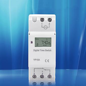 Commutateur de minuterie programmable Lcd numérique monté sur panneau Thc 15a Dc 110v Ac 220v