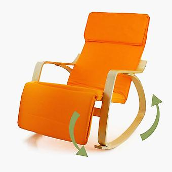 Heavy Wooden Pedal Rocking Chair