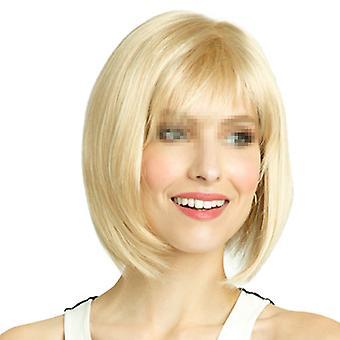 Gorra de peluca corta dorada