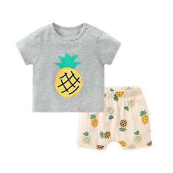 Bebê shorts de manga curta terno verão roupas criança