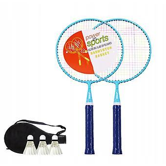 Dhs Dt201 Racket de badminton pour enfants 2pcs+3 Badminton Bleu