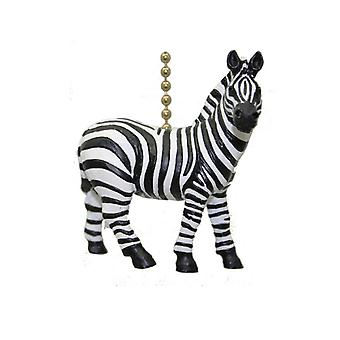African Safari plaines Zebra Stripes Fan Pull léger