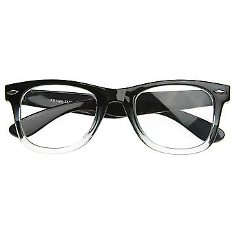 Twee Toon klassieke duidelijk Lens hoorn omrande glazen RX'able Frame