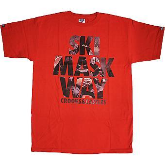 Crooks & Castles Ski Mask T-Shirt True Red