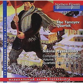 Taneyev Quartet - N. Miaskovsky - Complete String Quartets 2 [CD] USA import