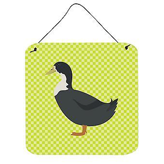 Suédois bleus canard porte accrocher impressions ou mur vert