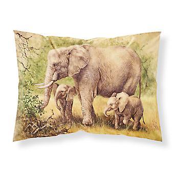 Elephants by Daphne Baxter Fabric Standard Pillowcase