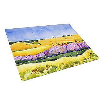 Carolines Treasures  6053LCB Landscape Glass Cutting Board Large