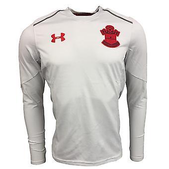 2017-2018 Southampton manica lunga t-shirt allenamento (ghiacciaio Grey)