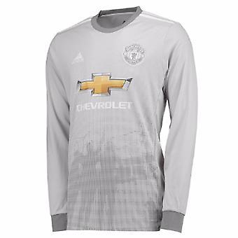 2017-2018年人 Utd アディダス 3 長い袖のワイシャツ