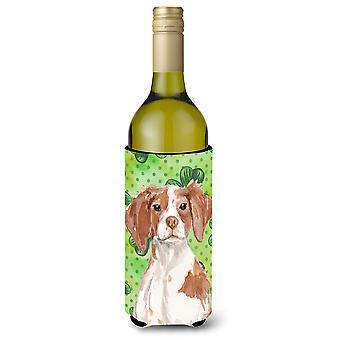 Brittany Spaniel St. Patrick garrafa de vinho Beverge isolador Hugger