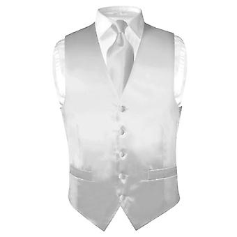 Biagio Männer Seidenkleid Weste & solide Krawatte Krawatte Set