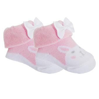 Baby девушки хлопок богатые сова/Банни носки с подарочный мешочек (комплект из 2)