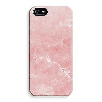 iPhone 5C Full Print Fall (glänzend) - rosa Marmor