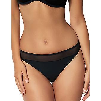 Sans Complexe 309797 Women's Essential Black Solid Colour Panty Thong