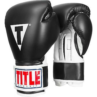 Tittelen boksing Pro klassisk 3.0 krok og Loop treningshanske - hvitt