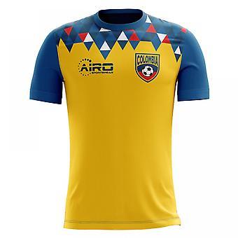 2018-2019 Colombia Home Concept voetbalshirt (kinderen)