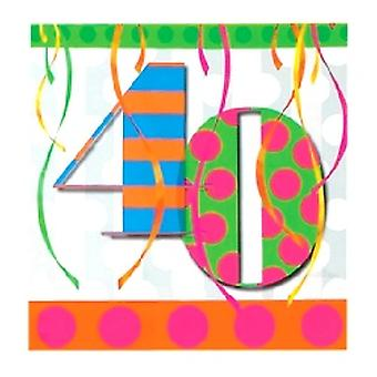 40. Ballon hell Geburtstag Party Servietten