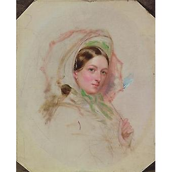 Lady with a Parasol (study for Derby Day) by.. - Art Print