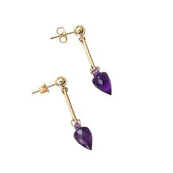 Gemshine - Femmes -Earrings - Gold plaqué - Amethyst - Drops - Purple