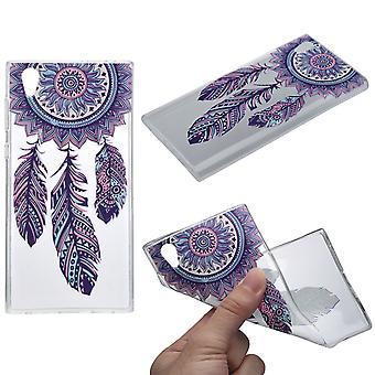 Cubierta de la henna para atrapasueños Sony Xperia XA1 funda protectora de silicona