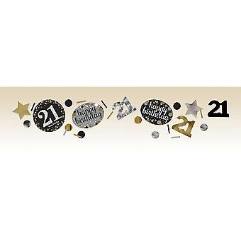 Amscan 1,2 oz ouro cintilante 21 aniversário de confete
