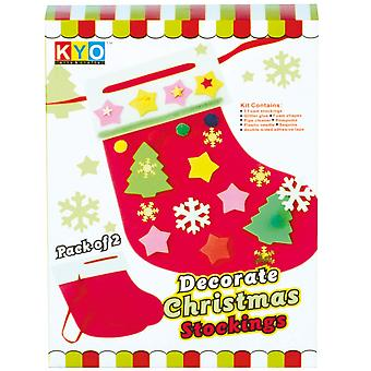Christmas Shop Make Your Own Christmas Stocking Set of 2